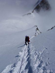 traversarea pointe lachenal alpi