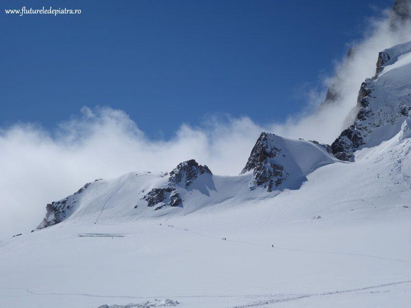 traversarea Pointes Lachenal, Mont Blanc