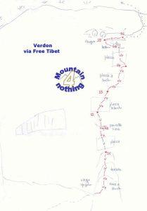 topo voie free tibet gorges du verdon