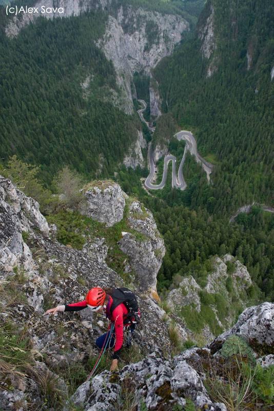 priveliste din cheile bicazului, alpinism romania (2)
