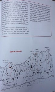 harta Rupe Sasca, sectorul din Monte Colodri, Arco