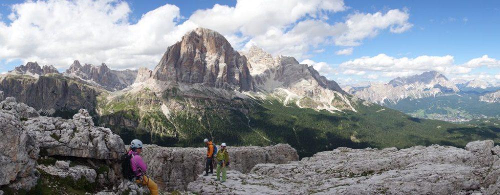 panorama de pe Cinque Torri, grupul Tofana si Pomaganon