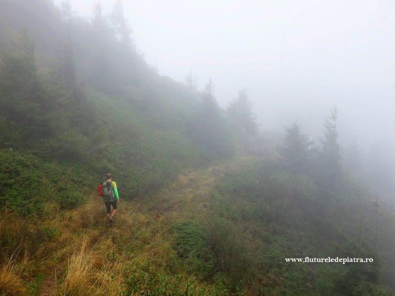 plimbare pe creasta zaganu-gropsoarele printre nori si ploaie, ciucas