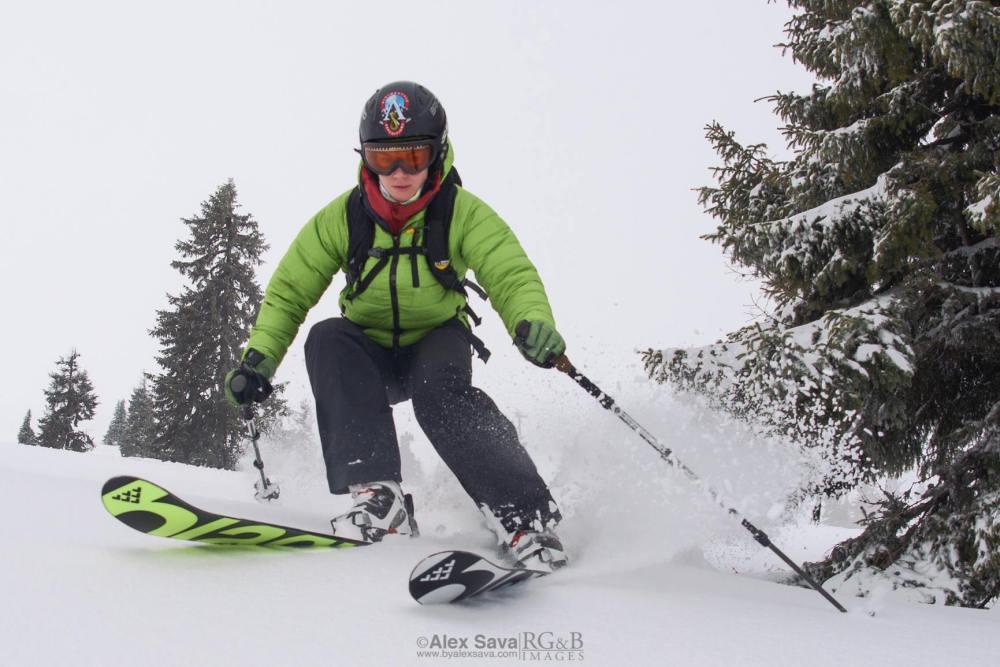 Cristina Pogăcean la schi în Șureanu