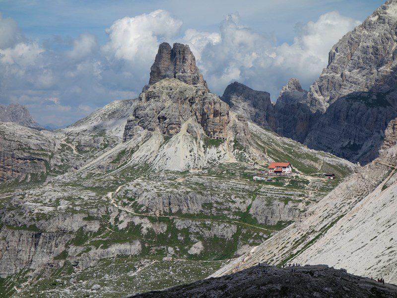 refugiul Locatteli, Tre Cime di Lavaredo, circuit turistic dolomiti