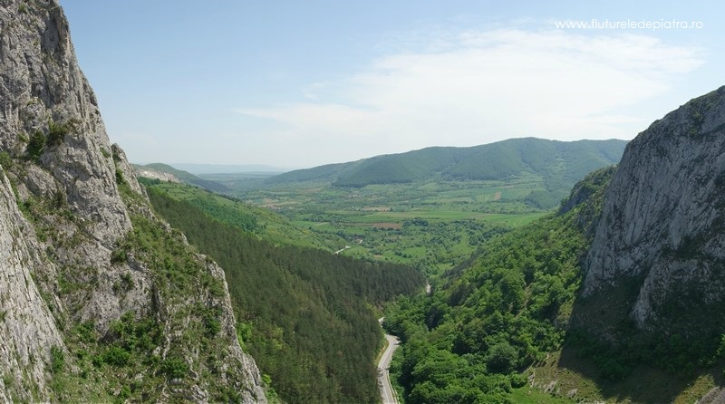 priveliște peste Cheile Aiudului cățărare escaladă în transilvania