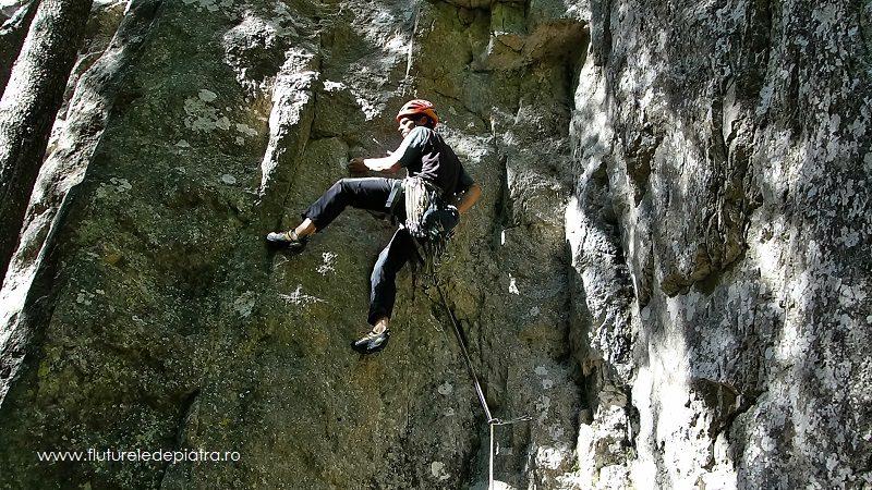 pasul din prima lungime, Creasta Estică din Buila Vânturarița