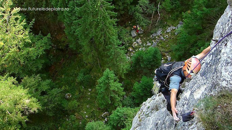 traseu creasta estica, alpinism romania parcul buila vanturarita