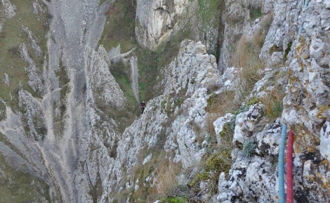 Creasta Sanşil sub vânt de iarnă, Cheile Turzii