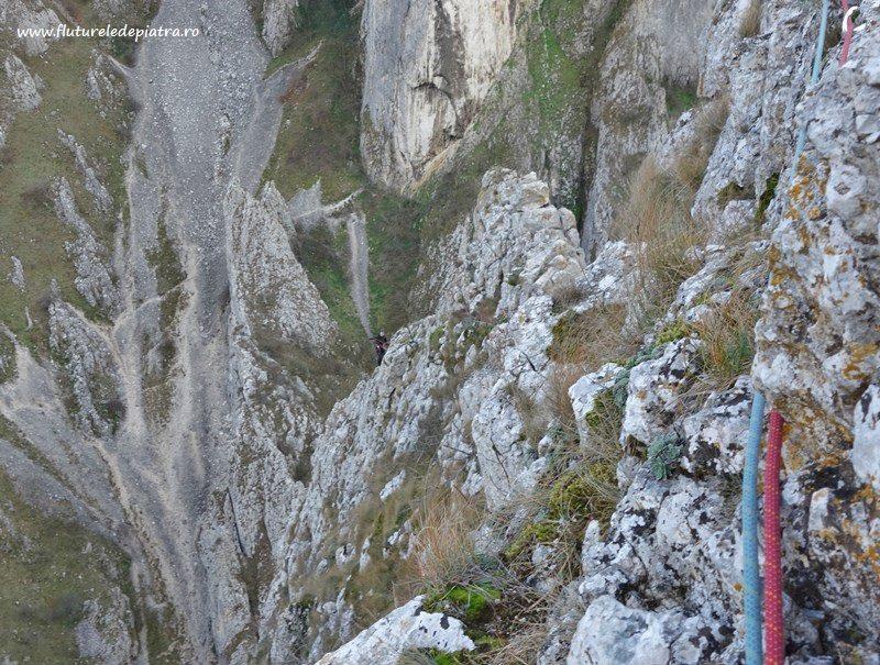 alpinism romania, cheile turzii, creasta sansil panorama