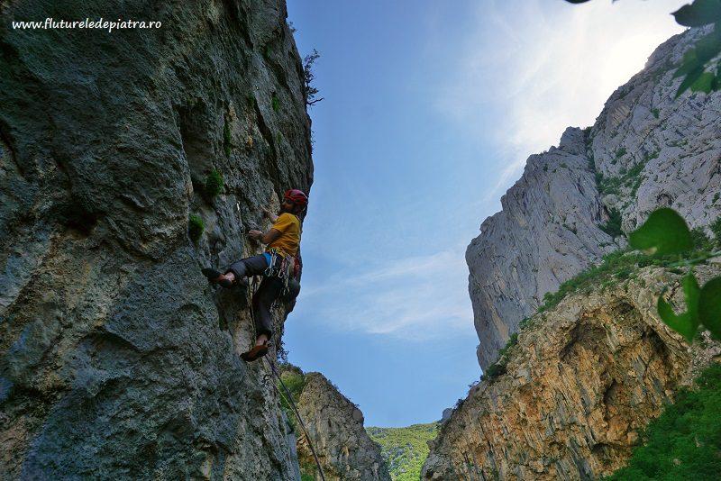 first pitch Senza Pieta climbing route paklenica, croatia, debeli kuk wall