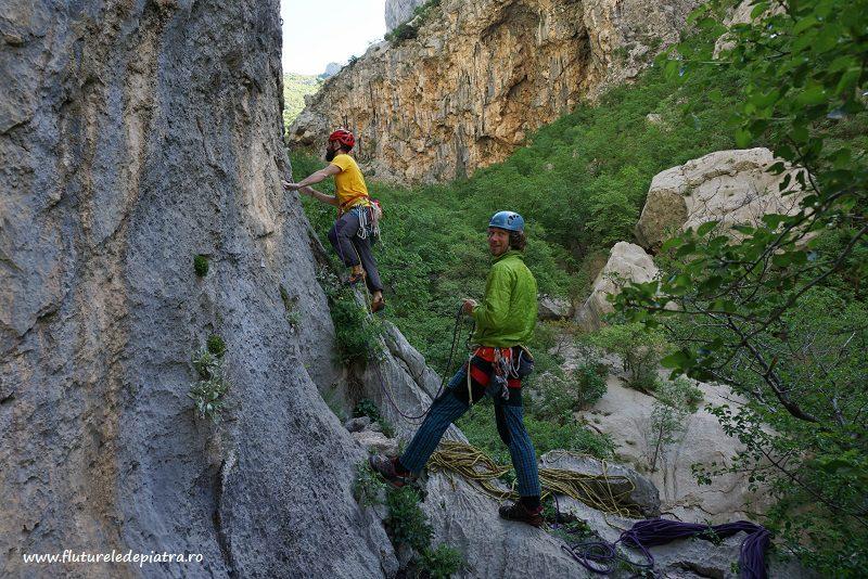 Senza Pieta climbing route paklenica, croatia, debeli kuk wall