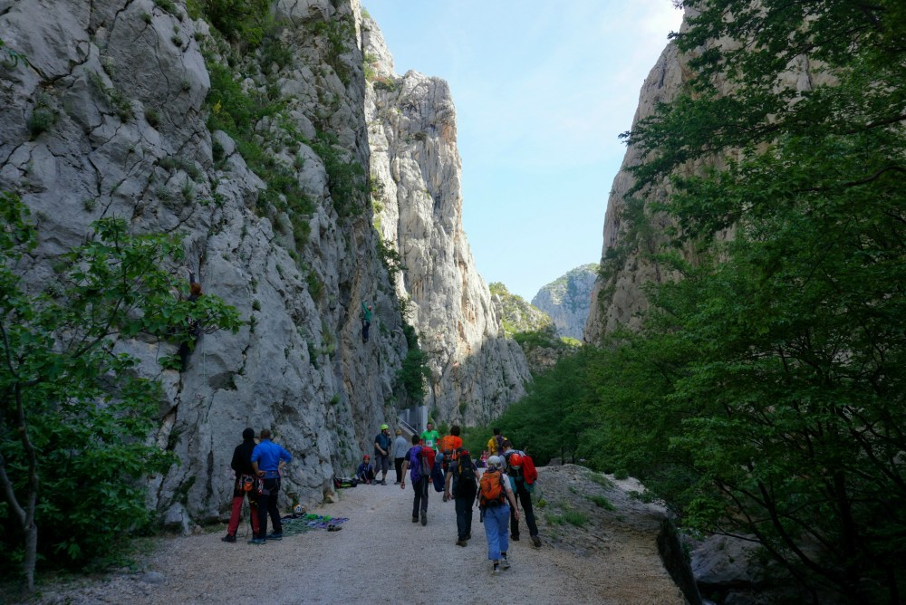 Debeli Kuk climbing wall in Paklenica National Park and sport climbing crags