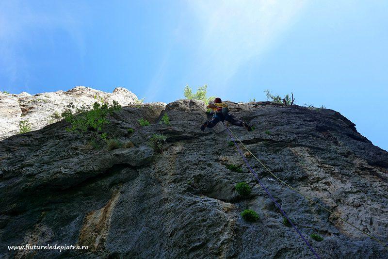 Senza Pieta rock climbing route paklenica, croatia, debeli kuk wall