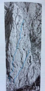 topo escaladă și alpinism Paklenica, route senza pieta