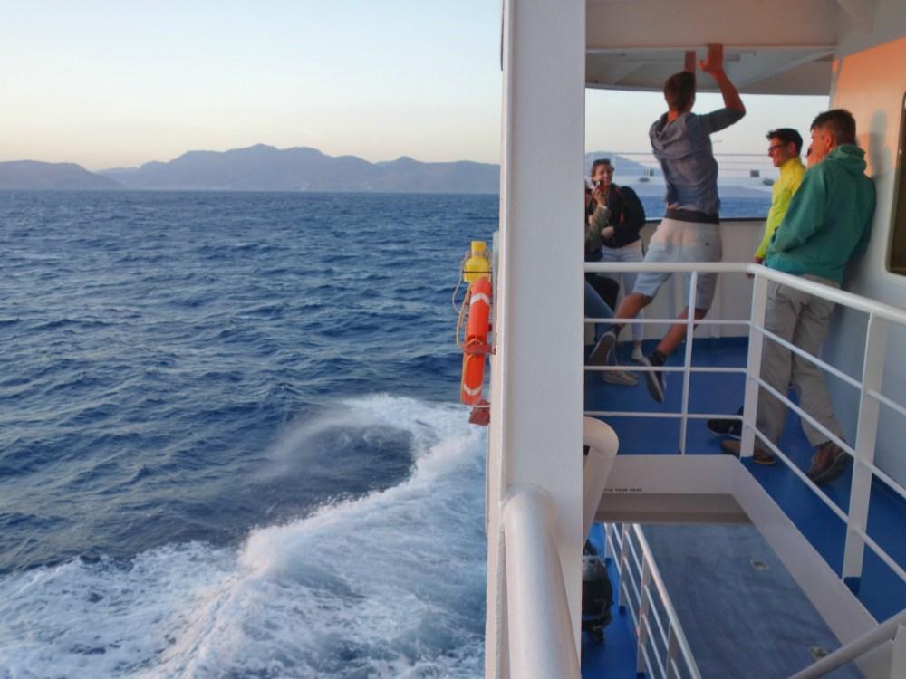 transport barca insula kalymnos, grecia