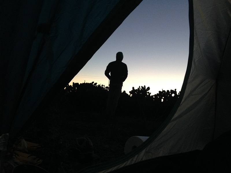 trezire la cort pe malul mării, Sardinia, Italia