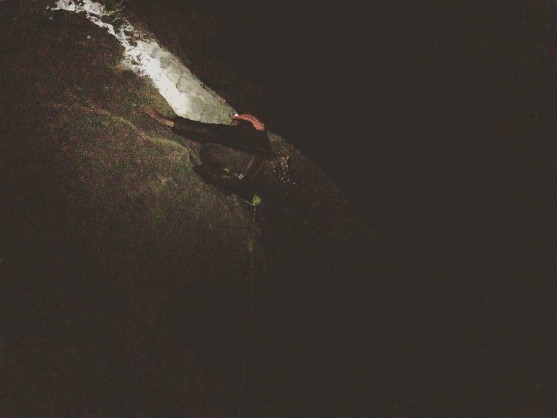 escaladă pe timp de noapte, El Chorro, Spania