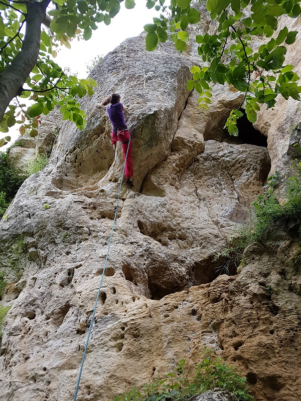 escalada Koshov Milkovata Bulgaria - traseu gradul 6c
