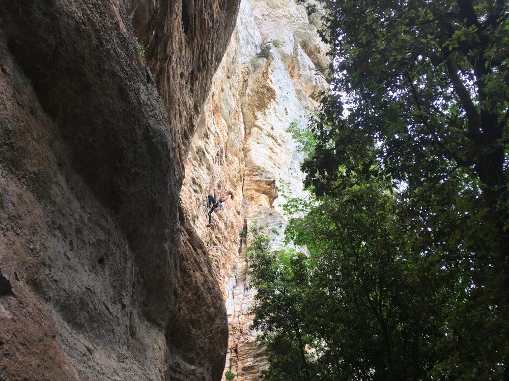Amfiteatrul, escalada Finale Ligure, Italia
