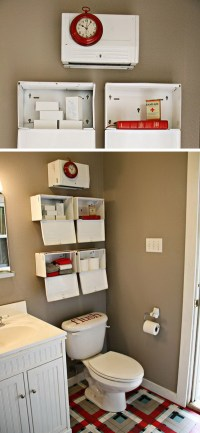 Over The Toilet Storage Ideas for Extra Space