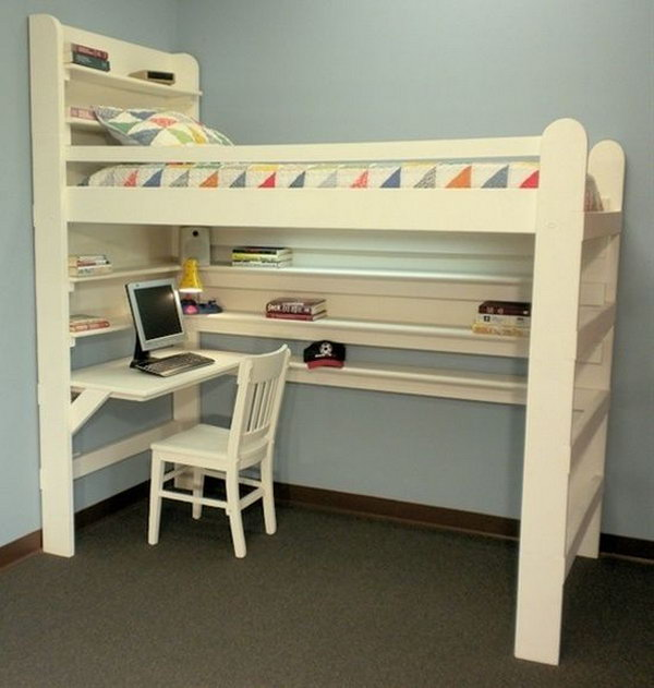 Diy Elevated Desk 30+ Cool Loft Beds For Small Rooms