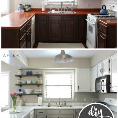 Kitchen Cabinet Makeover Kit Tables Austin Pretty Before And After Makeovers