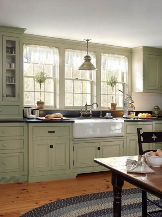 grey green paint color kitchen cabinets | home painting