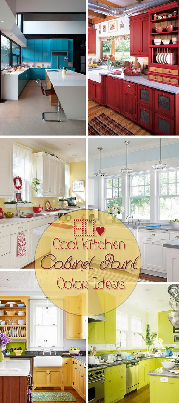 80+ Cool Kitchen Cabinet Paint Color Ideas