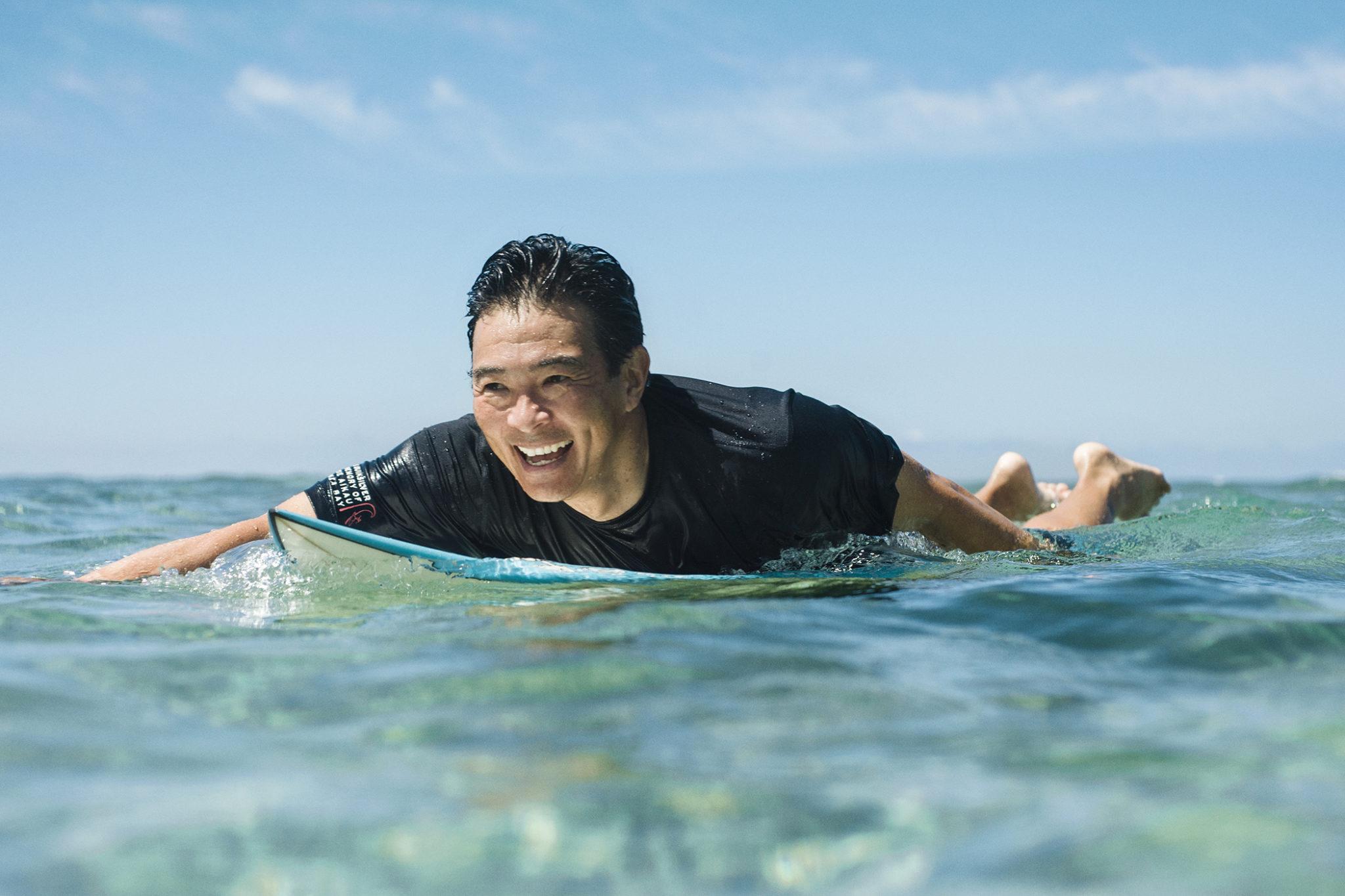 Guy Hagi surfing, FLUX Hawaii