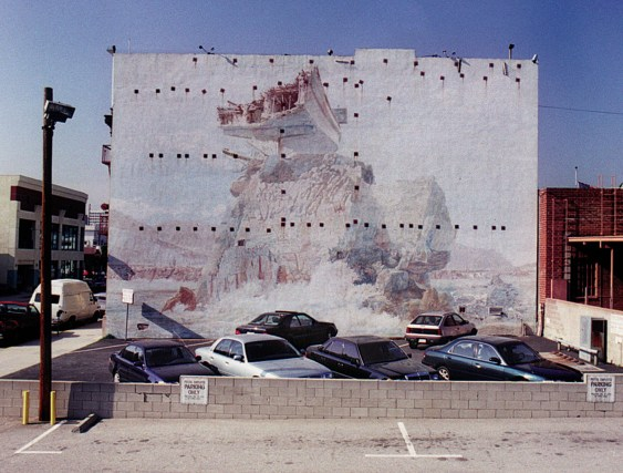 """Faded Mural"", 1996, Santa Monica, Ca, Landscape/Light studies series, C–print"
