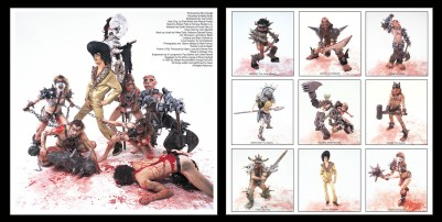 "Gwar, ""Scumdogs of the Universe"", LP innersleeve design, 1990, Metal Blade Records"