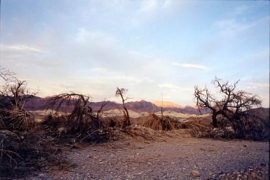 """Furnace Creek"", 2000, Death Valley, Ca, Landscape/Light studies series, C—print"