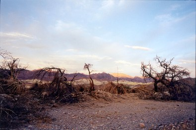 """Furnace Creek"", 2000, Death Valley, Ca, Landscape/Light studies series, C—print"