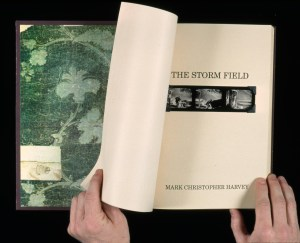 The Storm Field, Title page, Handmade Book, Edition of 1, 1992