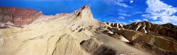 """Golden Canyon Panorama"", 2000, Death Valley, Ca, Landscape/Light studies series, Lambda print"