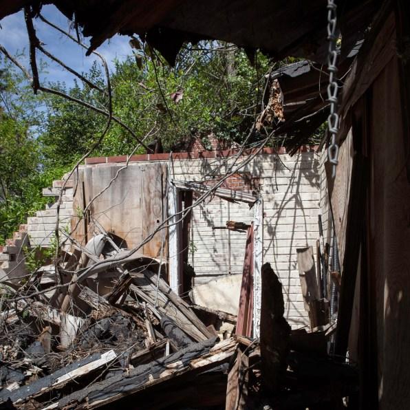 Home Ruins, Jefferson Davis Highway, Virginia, 2011