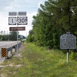 Historical Marker No. 4, Jefferson Davis Highway, Virginia, 2011