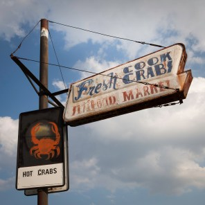 Hot Crabs Sign, Jefferson Davis Highway, Virginia, 2011