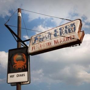 Hot Crabs Sign, Jefferson Davis Highway, Virginia, 2011