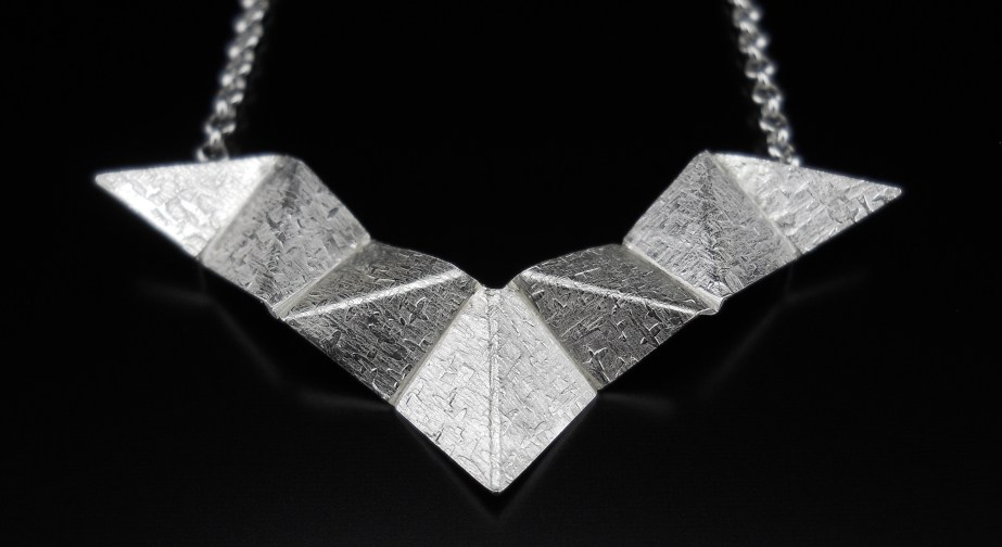 Origami Wings Pendant Silver
