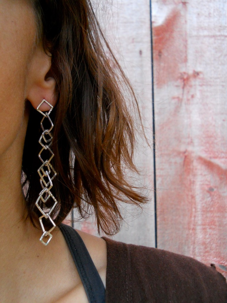 Geo Dangle Shoulder Dusters Silver
