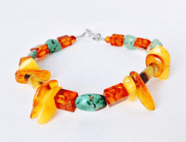 Amber Turquoise Bracelet