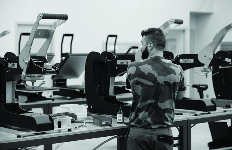 Sefa DUPLEX AIR PRO Heat Press - Production
