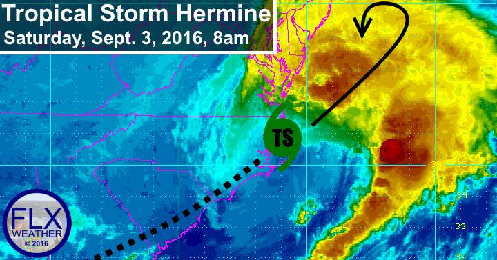 tropical storm hermine hurricane hermine mid altantic flooding erosison wind