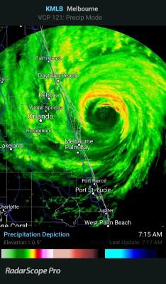 Hurricane Matthew radar florida cape canaveral