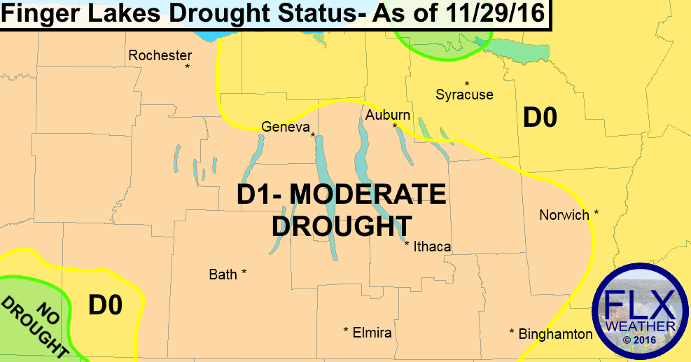 finger lakes drought map 2016