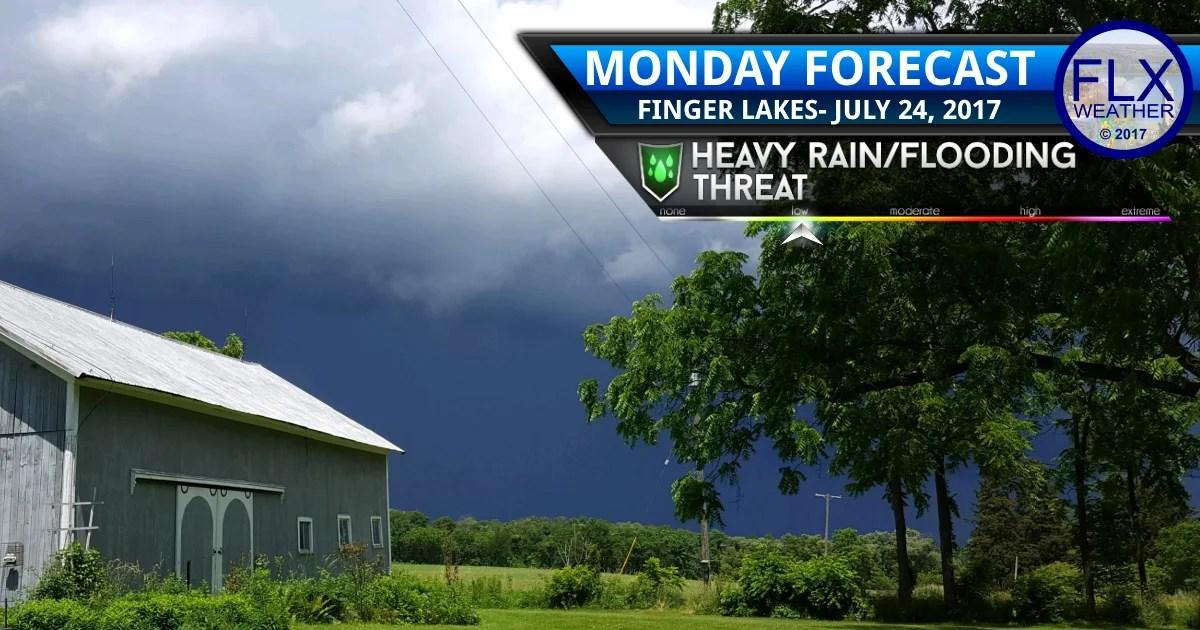 finger lakes weather forecast rain thunderstorm flash flood