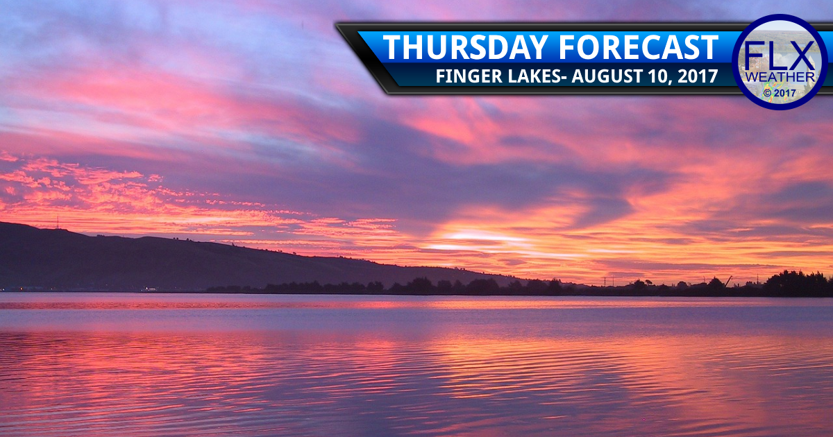 finger lakes weather forecast clouds rain weekend