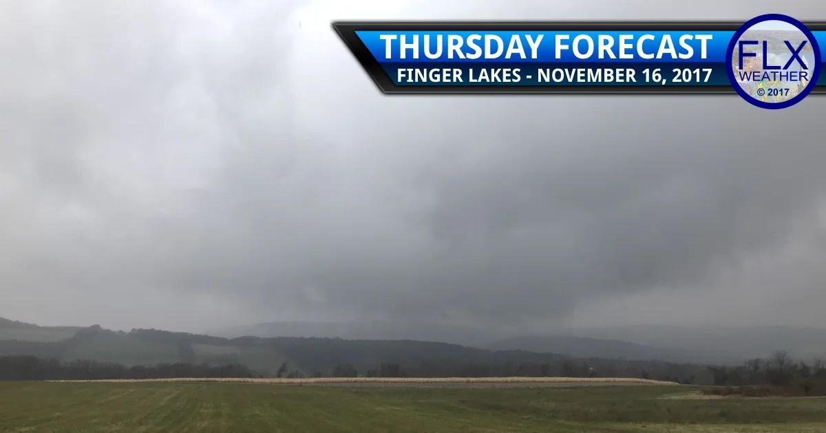 finger lakes weather forecast thursday november 16 2017 rain snow mixed precipitation weekend storm
